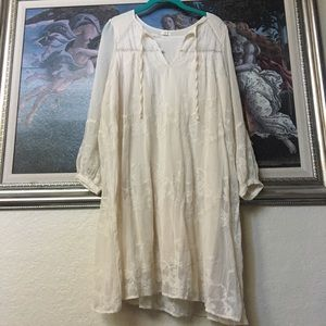 Anthropologie Tiny Dress Size Medium in Cream